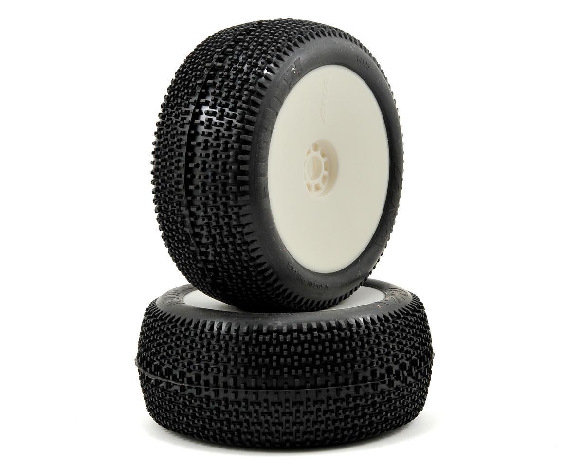 AKA EVO Cityblock 1/8 Truggy Pre-Mounted Tires (2) (White) (Medium)