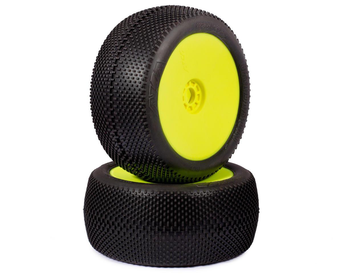 EVO Gridiron 1/8 Truggy Pre-Mounted Tires (2) (Yellow) (Soft) by AKA