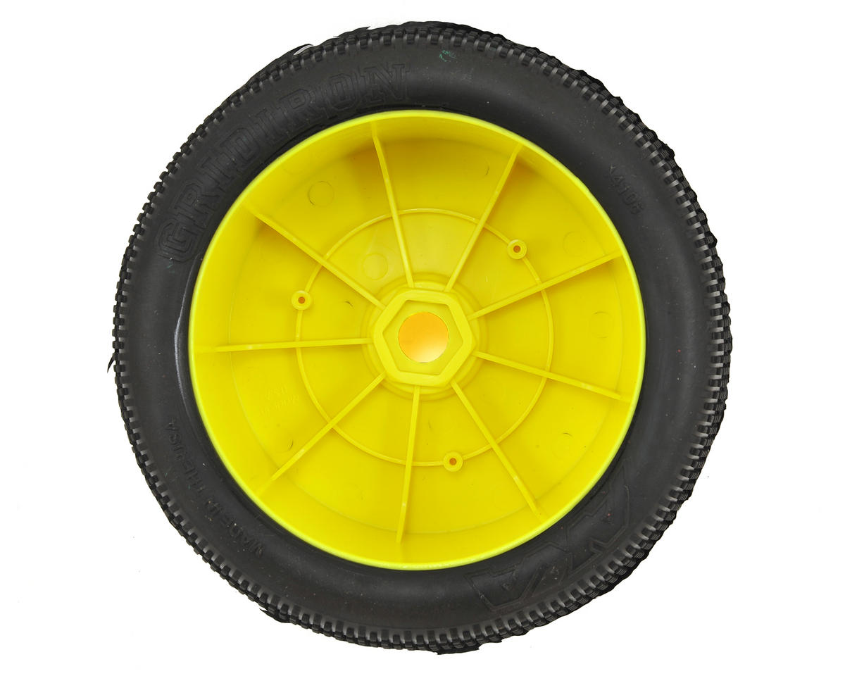 AKA EVO Gridiron 1/8 Truggy Pre-Mounted Tires (2) (Yellow) (Soft - Long Wear)