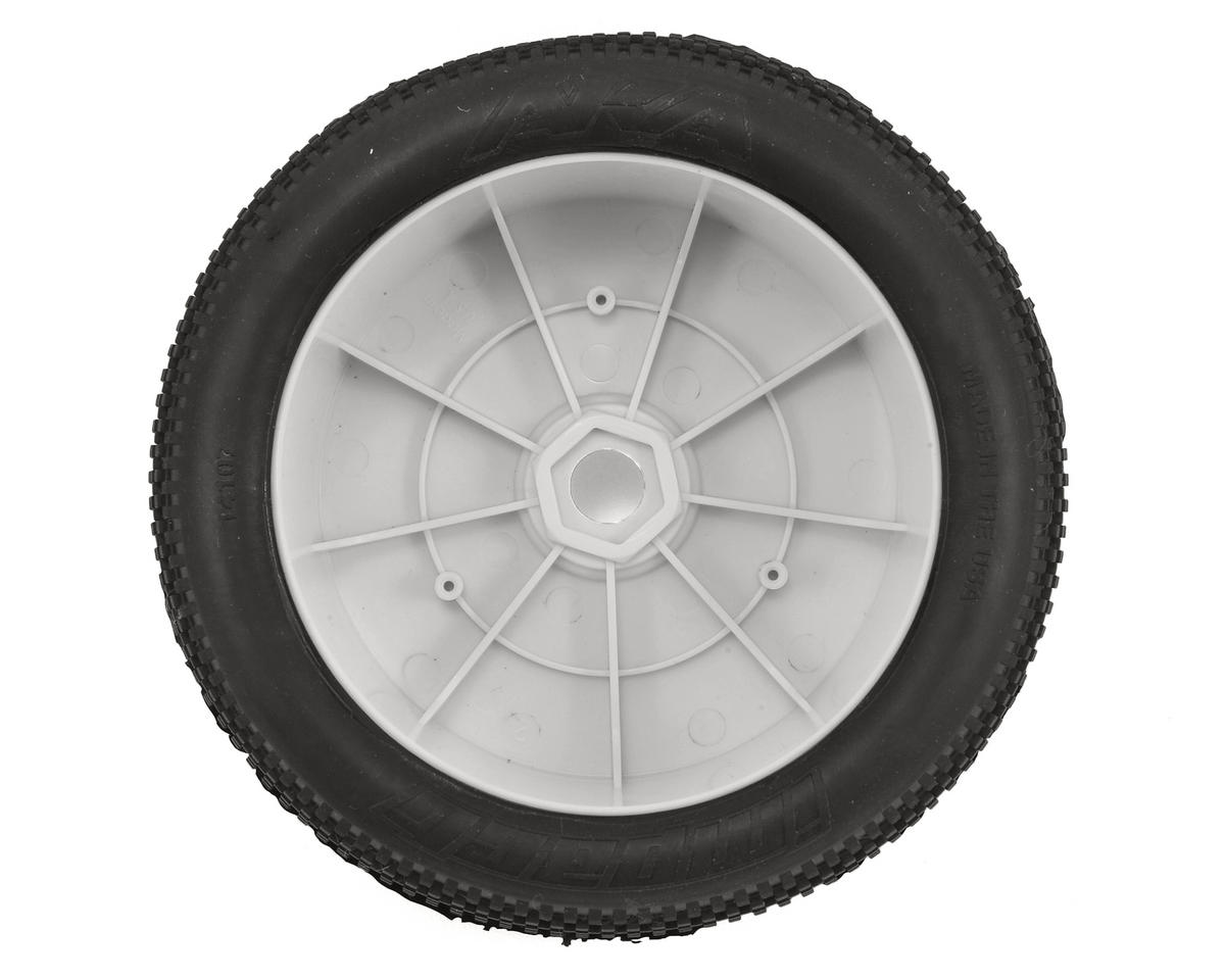 AKA EVO Impact 1/8 Truggy Pre-Mounted Tires (2) (White) (Medium - Long Wear)