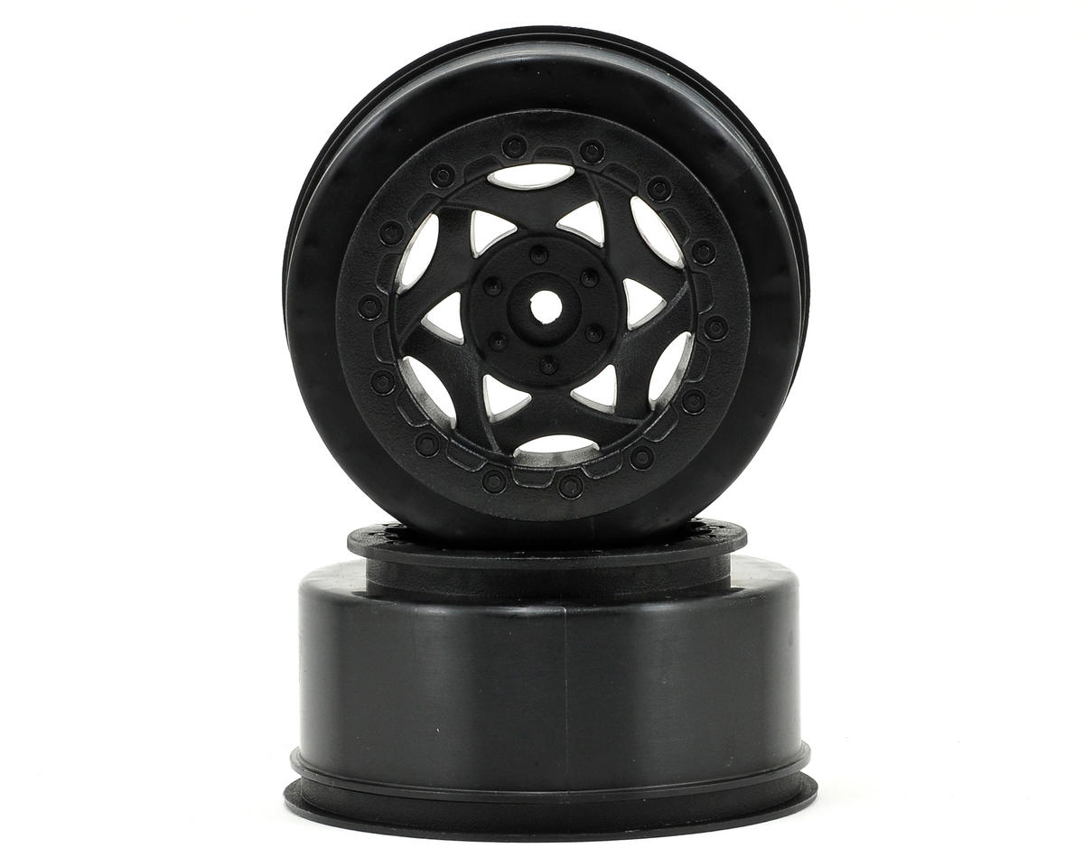 12mm Hex Cyclone Short Course Wheels (Black) (2) (SC6/Slash/Blitz)