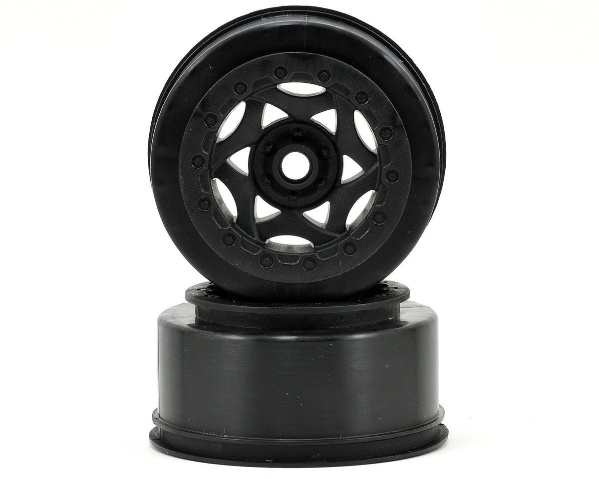 AKA Cyclone Short Course Wheels (Black) (2) (SC10 Front) (Not Hex)