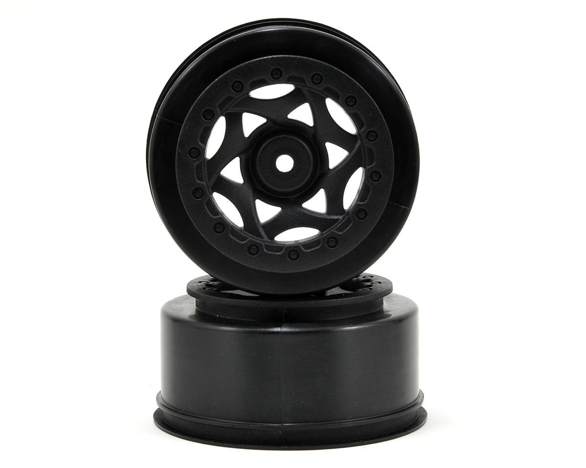 12mm Hex Cyclone Short Course Wheels (Black) (2) (22SCT/TEN-SCTE/SCT410)