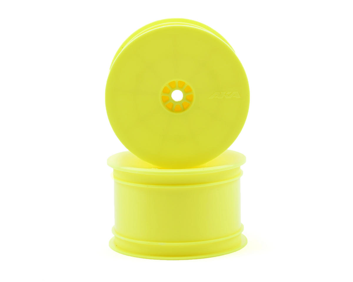 "12mm Hex ""HEXlite"" 2.2 Rear Wheels (2) (B6/22/RB6/ZX6) (Yellow) by AKA"
