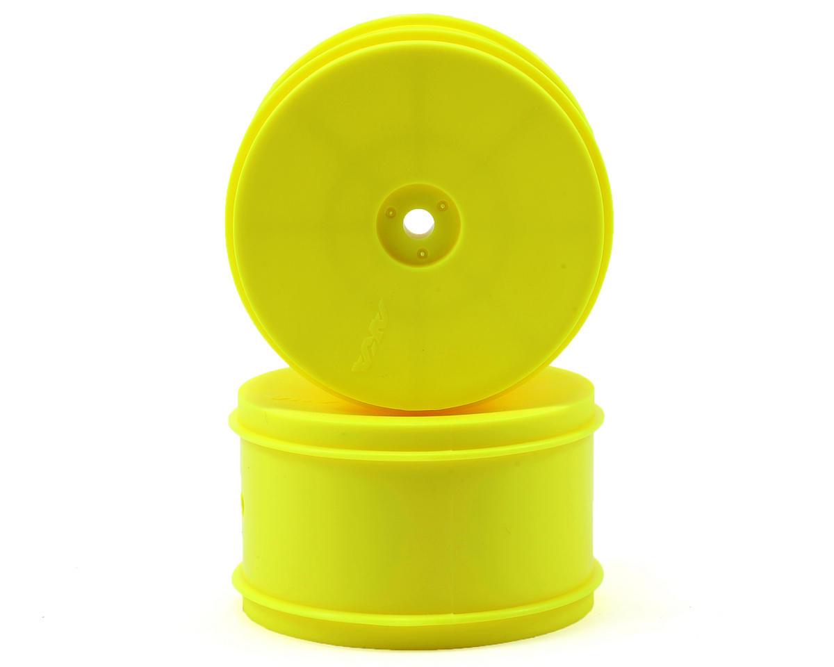 "12mm Hex ""EVO"" Rear Wheels (2) (B6/22/RB6/ZX6) (Yellow) by AKA"
