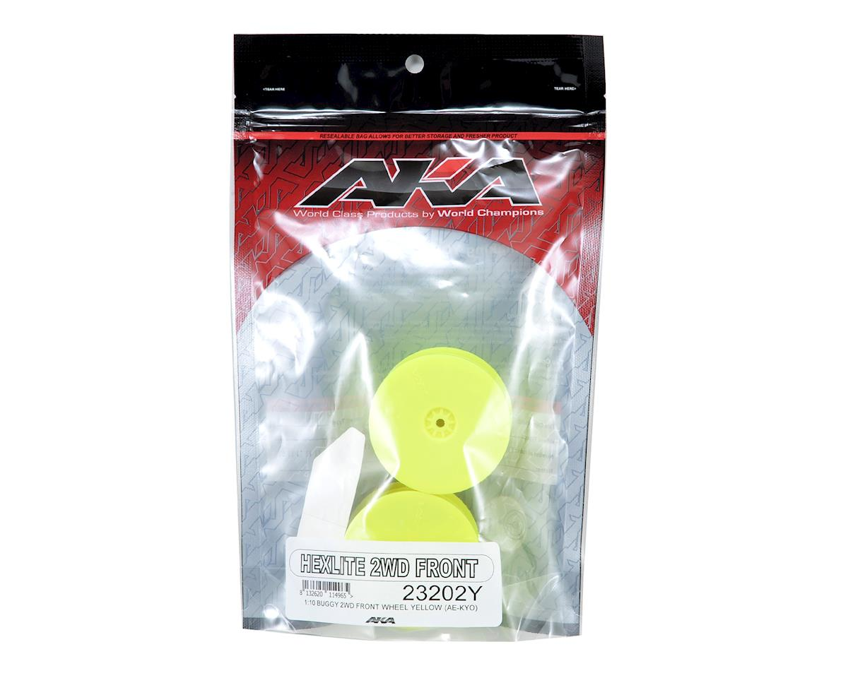 "AKA 12mm Hex ""HEXlite"" 2.2 Front Wheels (2) (B6/RB6) (Yellow)"