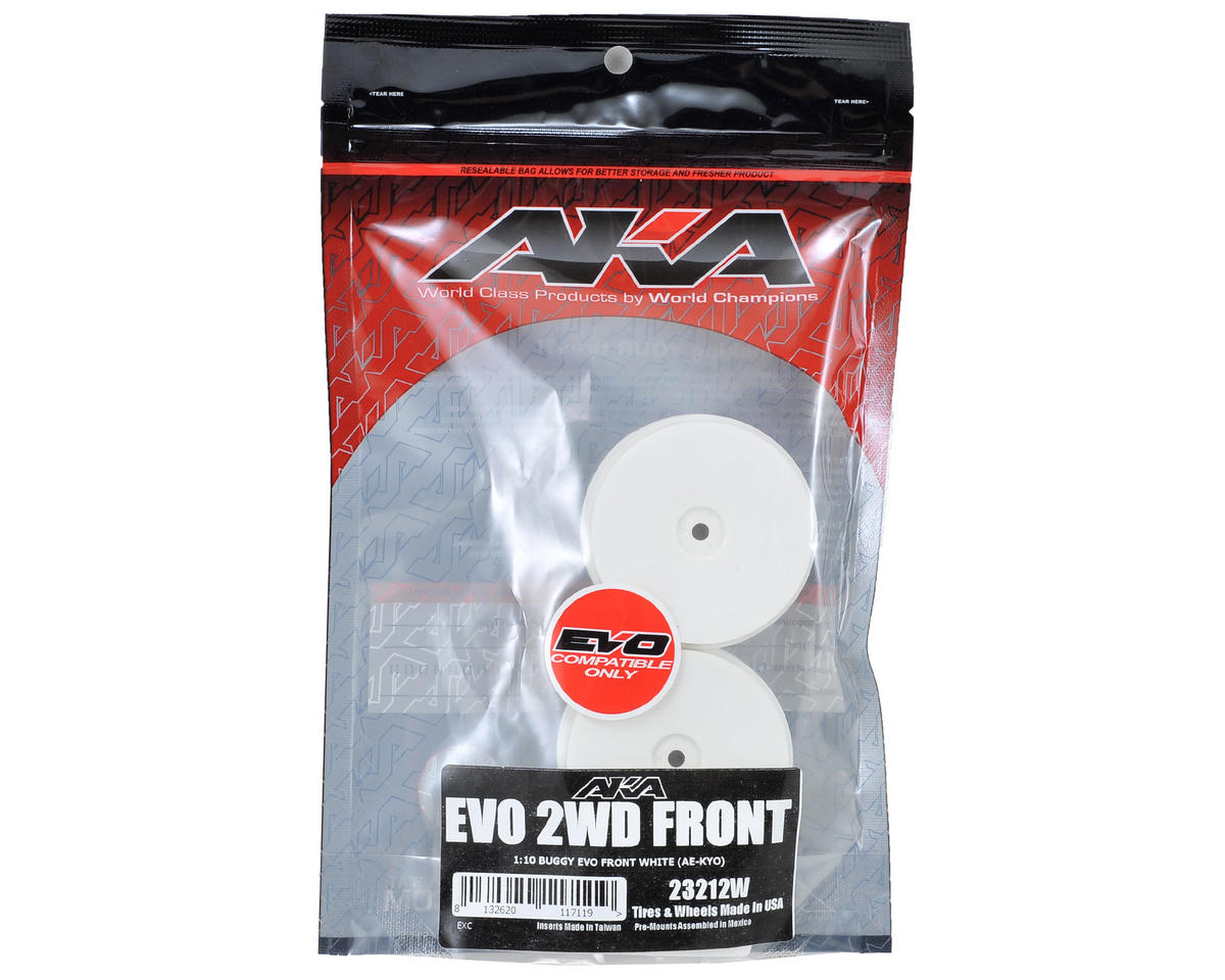 "12mm Hex ""EVO"" Front Wheels (2) (B6/RB6) (White) by AKA"