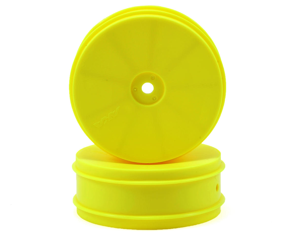 "AKA 12mm Hex ""EVO"" Front Wheels (2) (B6/RB6) (Yellow)"