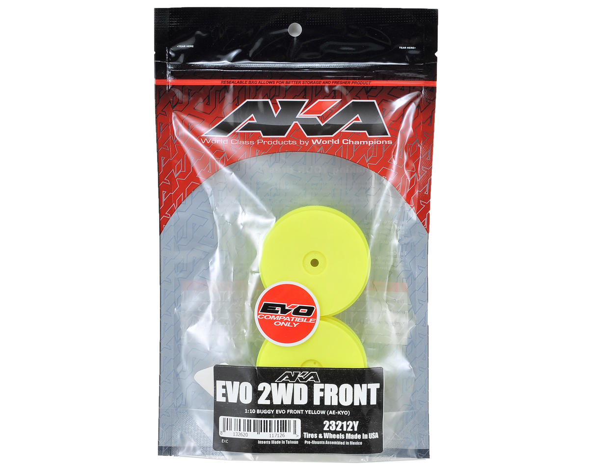 "12mm Hex ""EVO"" Front Wheels (2) (B6/RB6) (Yellow) by AKA"
