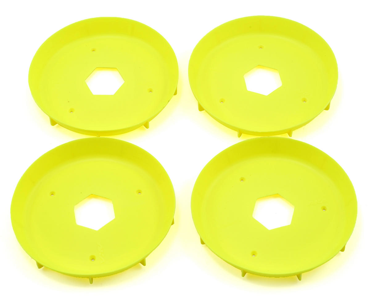 EVO Truggy Wheel Stiffener (Yellow) (4) by AKA