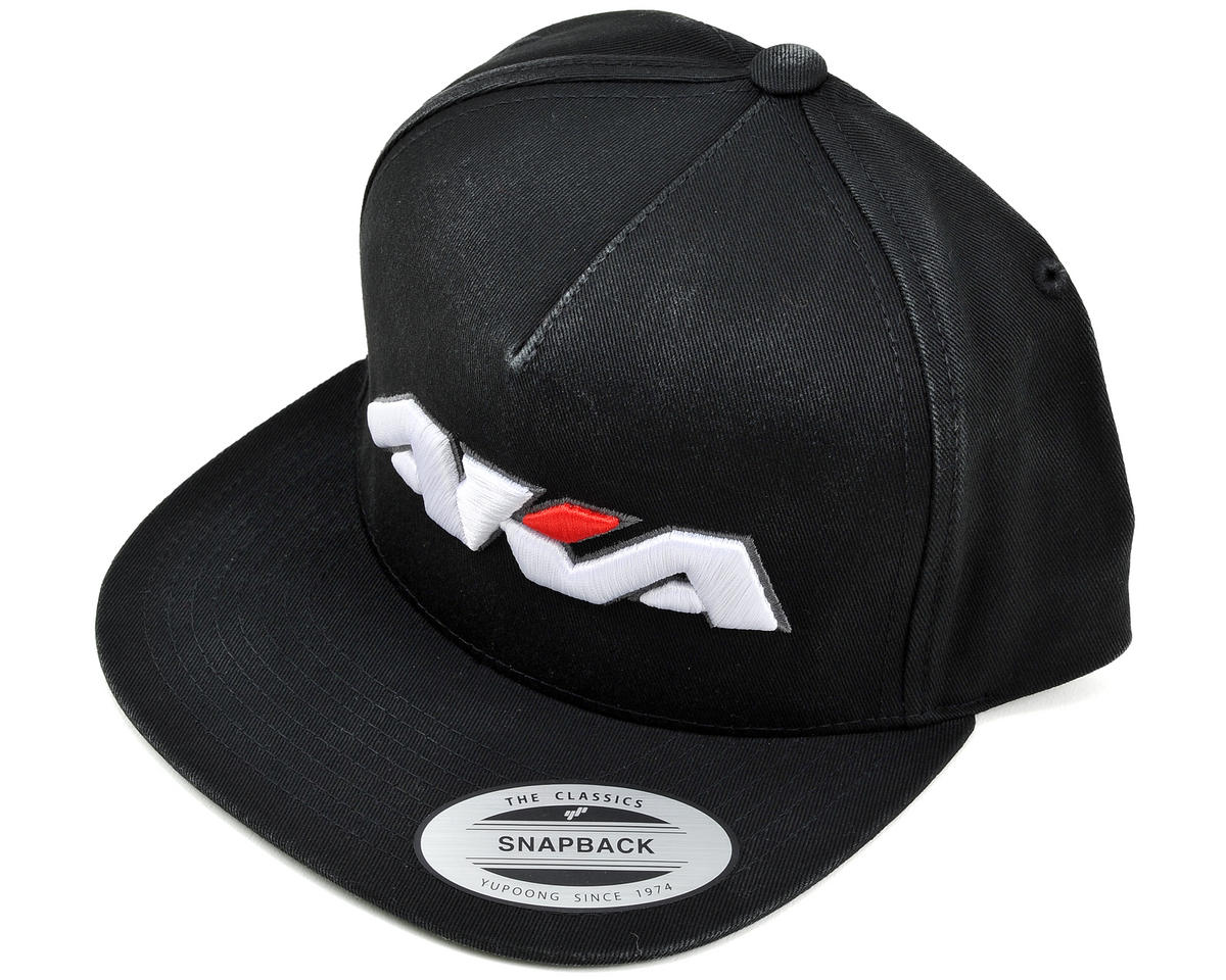 """Flatbill"" Snap Back Baseball Cap (Black)"