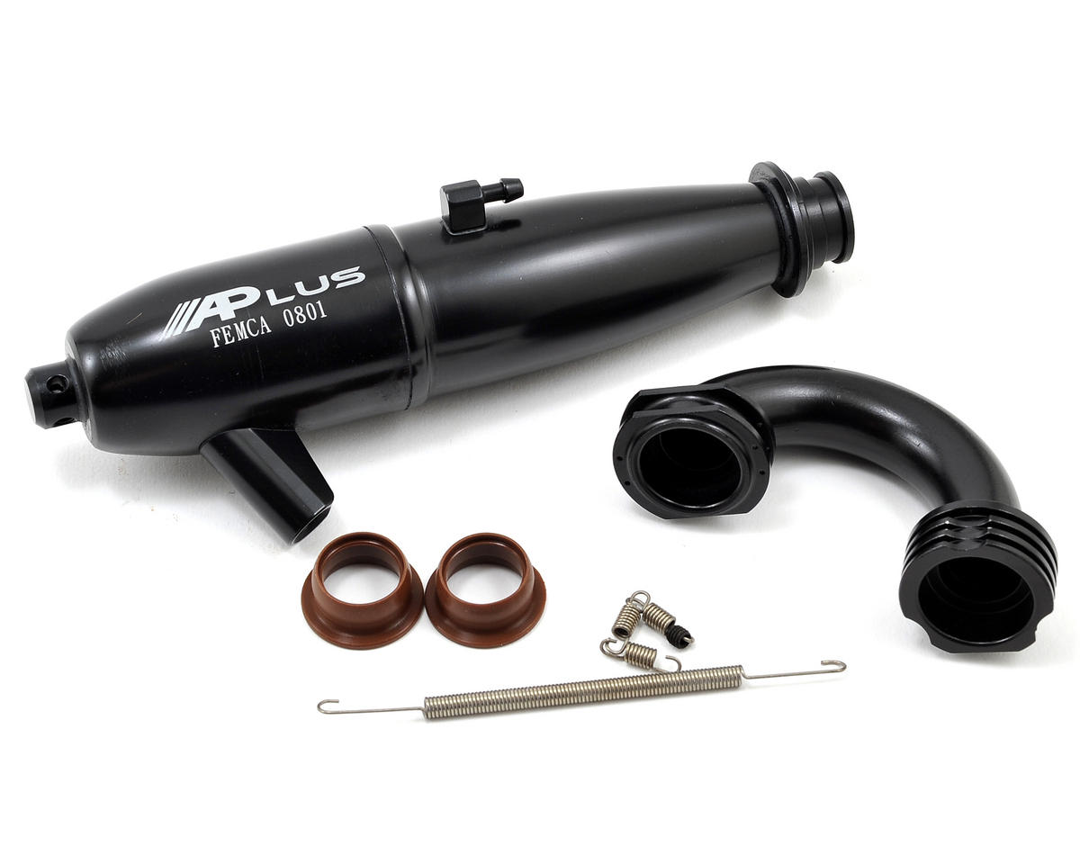 Alpha Plus 0801 Tuned Exhaust System (Black)