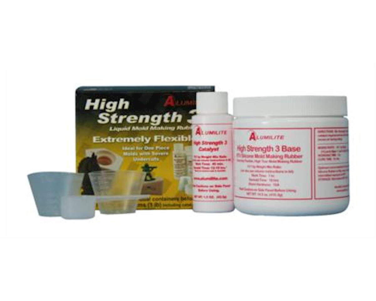 Alumilite Amazing Casting Products Alumilite High Strength 3 Liquid Mold Making Rubber, 1-Pound, Pink