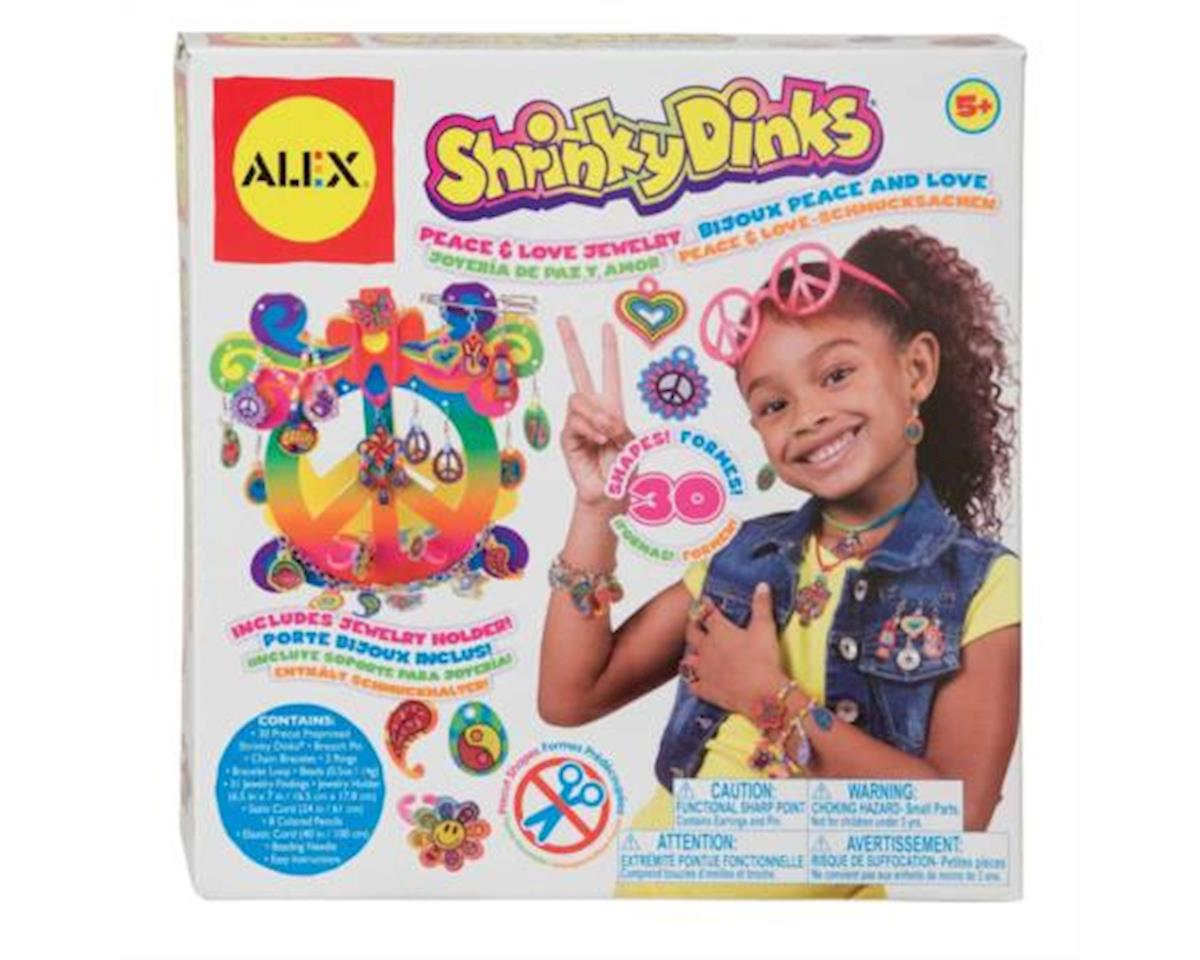 Alex Toys Alex  Shrinky Dinks - Peace & Love Jewelry