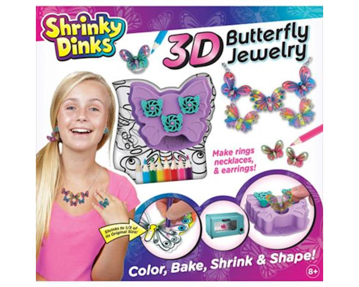 Alex Toys Shrinky Dinks 3D Butterfly Jewelry Kit