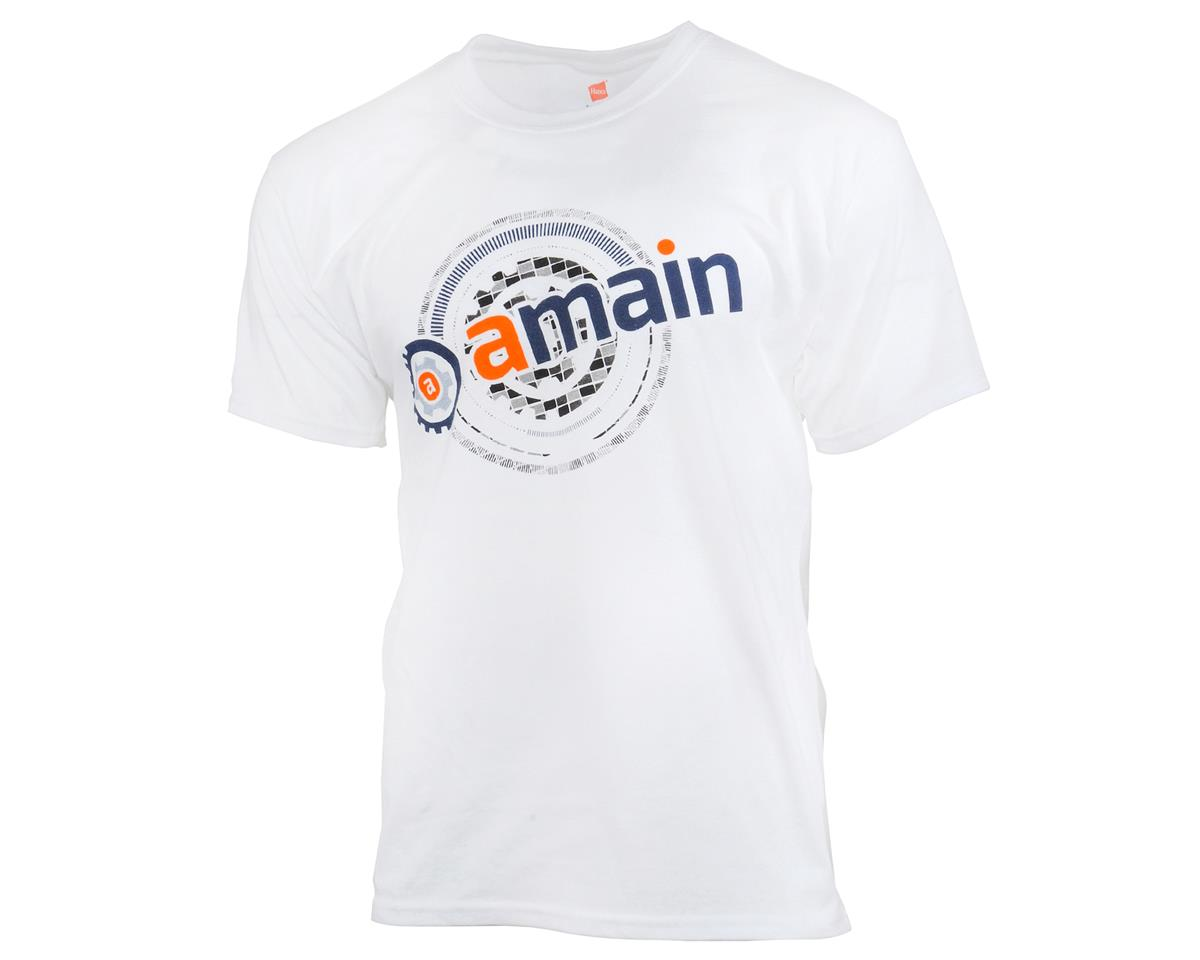 AMain Short Sleeve T-Shirt (White) (4XL)
