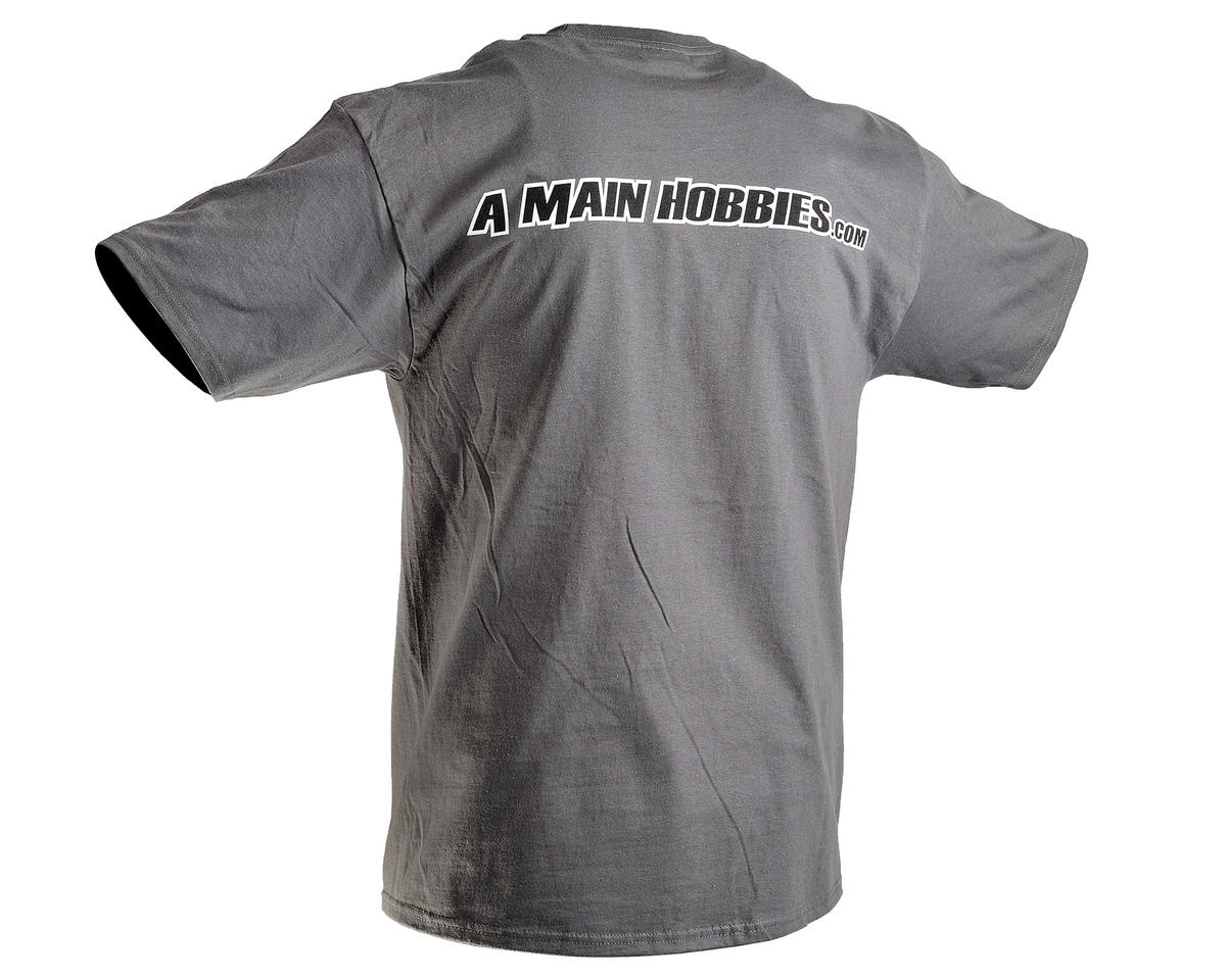 "AMain Gray ""Big League Tee"" T-Shirt (4X-Large)"