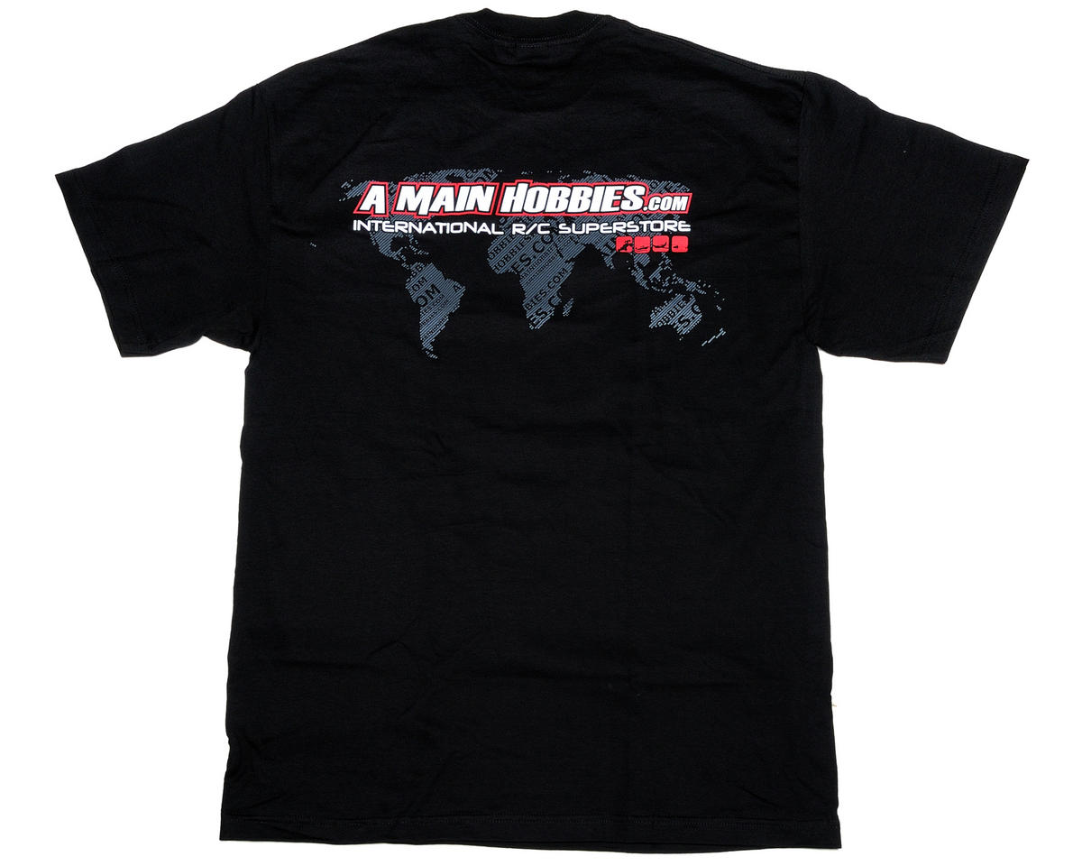 "AMain Black ""International"" T-Shirt (3X-Large - Tall)"