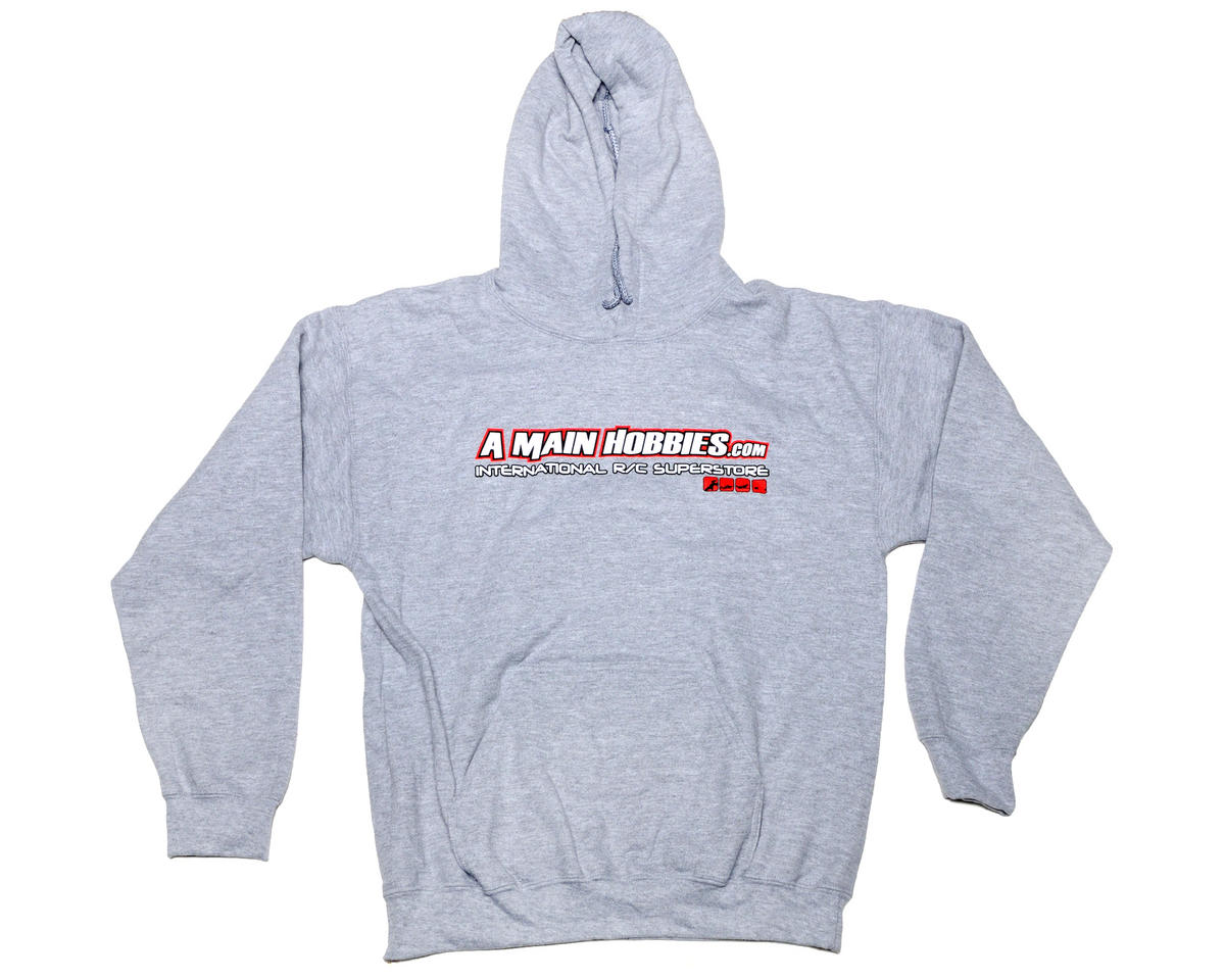 "AMain Athletic Gray ""International"" Hooded Sweatshirt (Hoody) (2X-Large)"