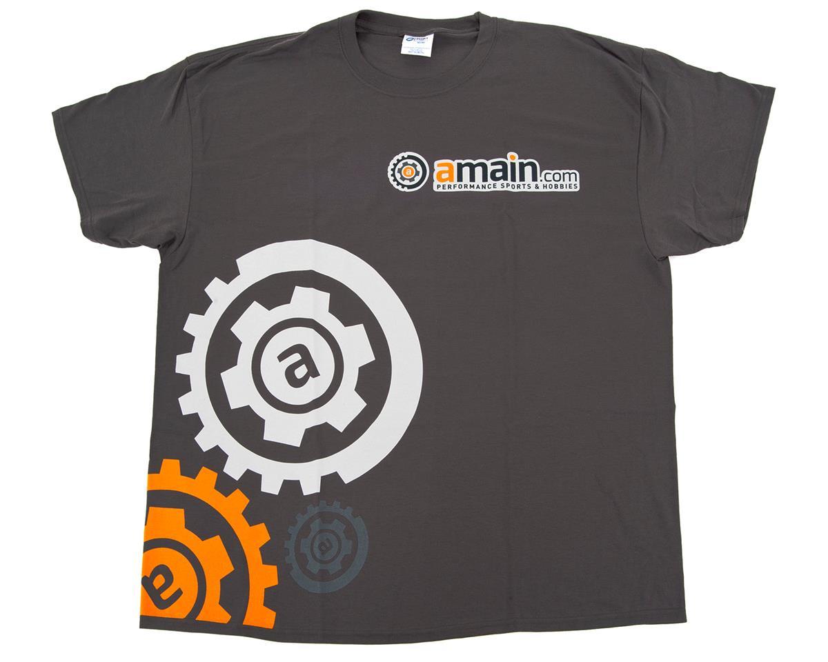 """AMain """"Gears"""" T-Shirt (Charcoal) (4XL)"""