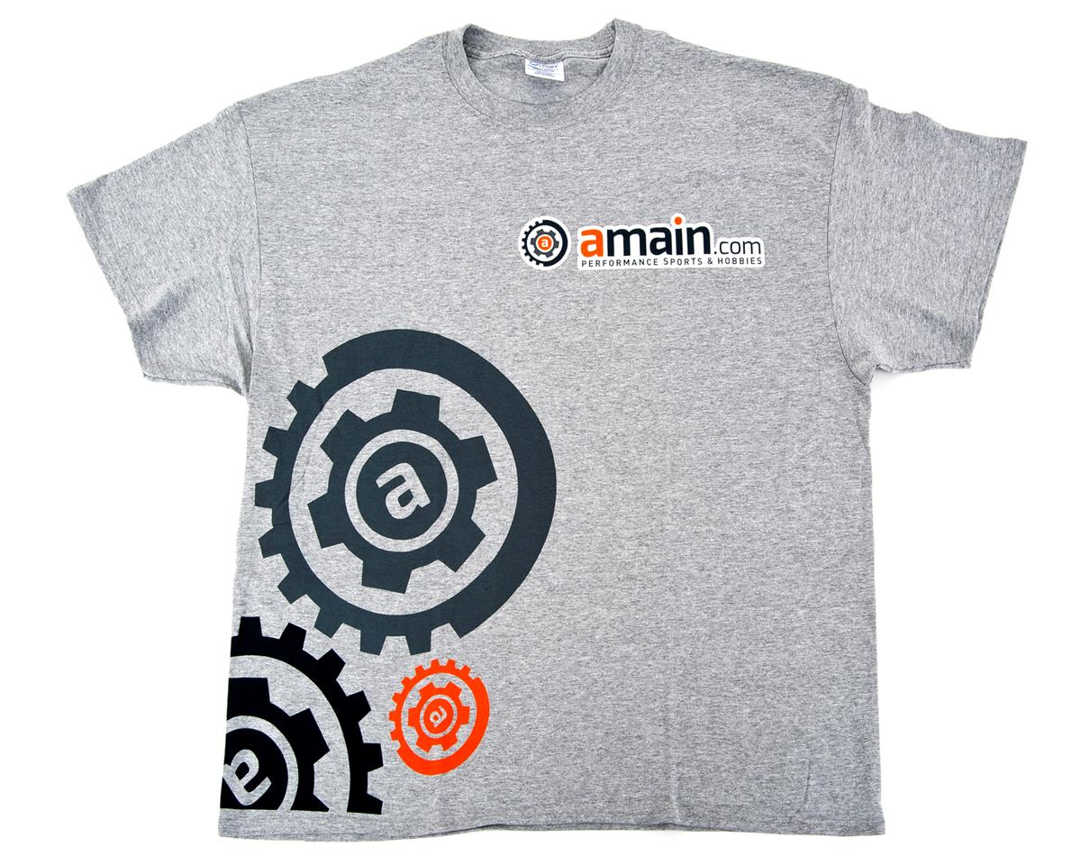 "AMain ""Gears"" T-Shirt (Gray) (2XL)"