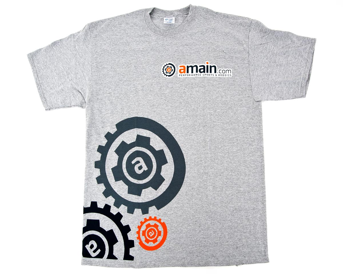 "AMain ""Gears"" T-Shirt (Gray) (2XL-Tall)"