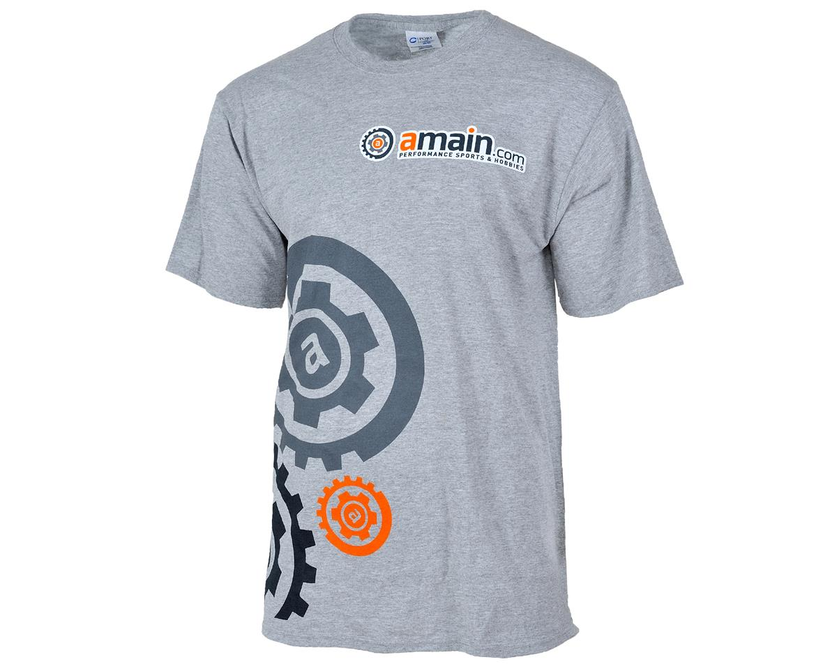 "AMain ""Gears"" T-Shirt (Gray) (XL-Tall)"