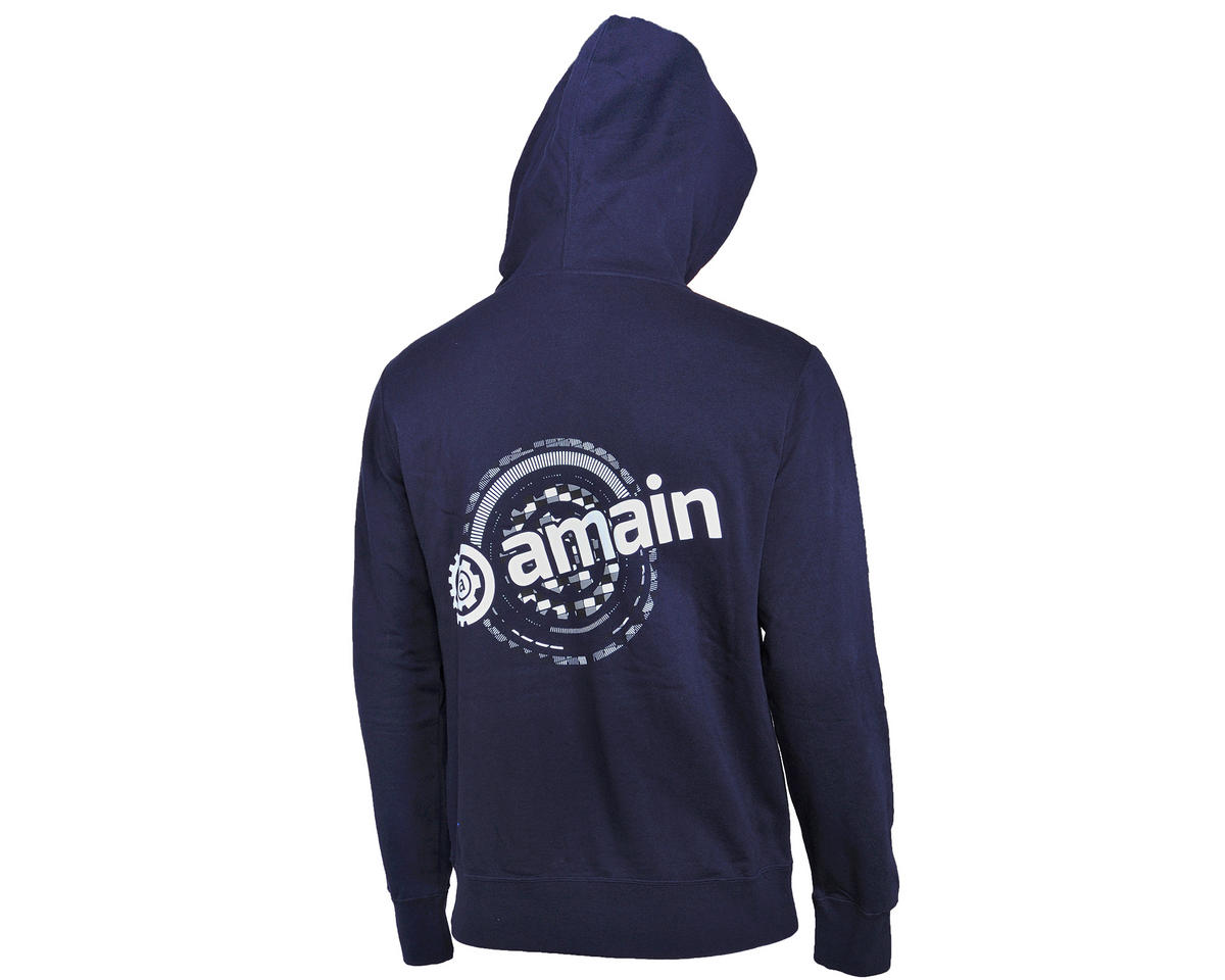 AMain Zip-Up Hoodie Sweatshirt (Navy) (2XL)