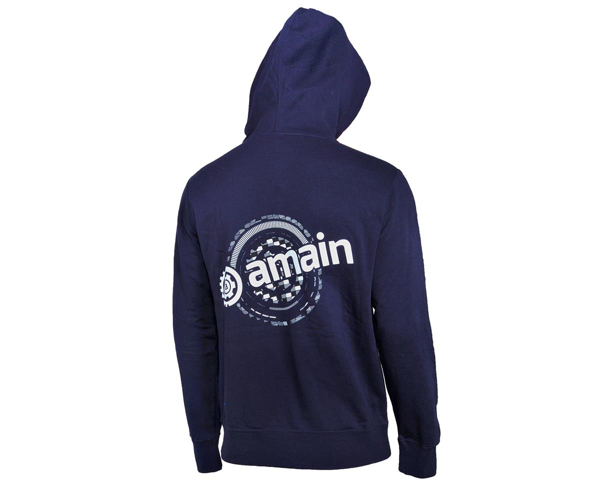 AMain Zip-Up Hoodie Sweatshirt (Navy) (L)