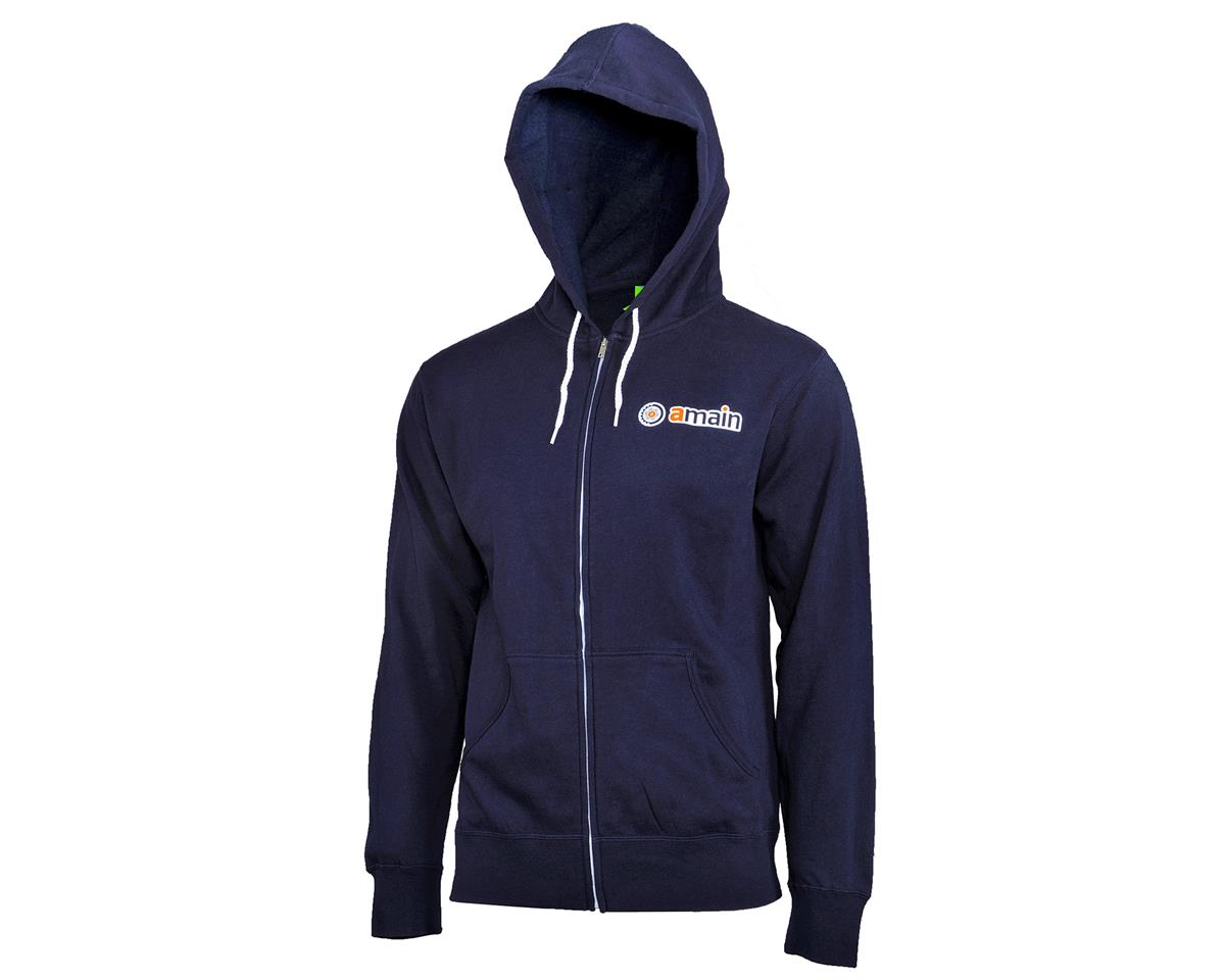 AMain Zip-Up Hoodie Sweatshirt (Navy) (XL)