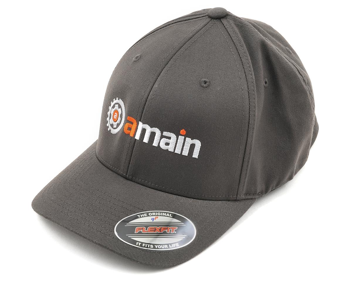 AMain FlexFit Hat w/Gears Logo (Dark Gray) (L/XL)