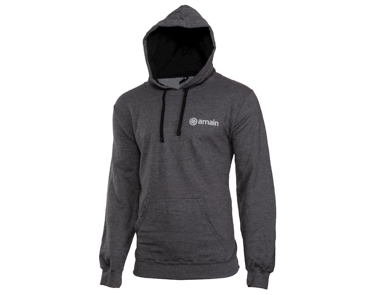 AMain Pullover Hoodie Sweatshirt (Dark Heather) (XL)