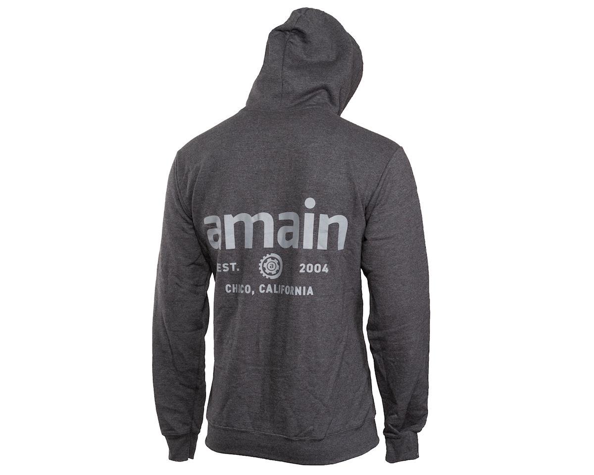 AMain Zip-Up Hoodie Sweatshirt (Dark Heather) (L)