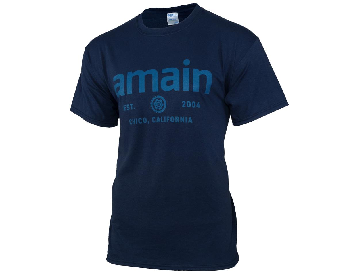 AMain Varsity Short Sleeve T-Shirt (Navy) (4XL)