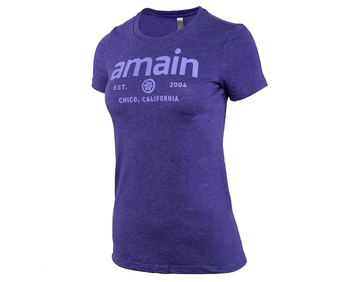 AMain Ladies Short Sleeve T-Shirt (Purple Rush) (S)