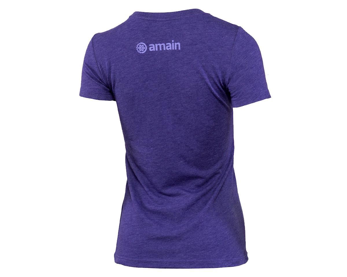 AMain Ladies Short Sleeve T-Shirt (Purple Rush) (S)