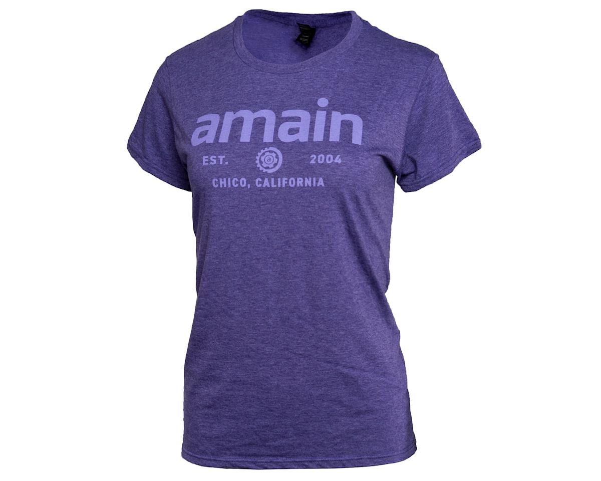 AMain Ladies Short Sleeve T-Shirt V2 (Purple Rush) (M)