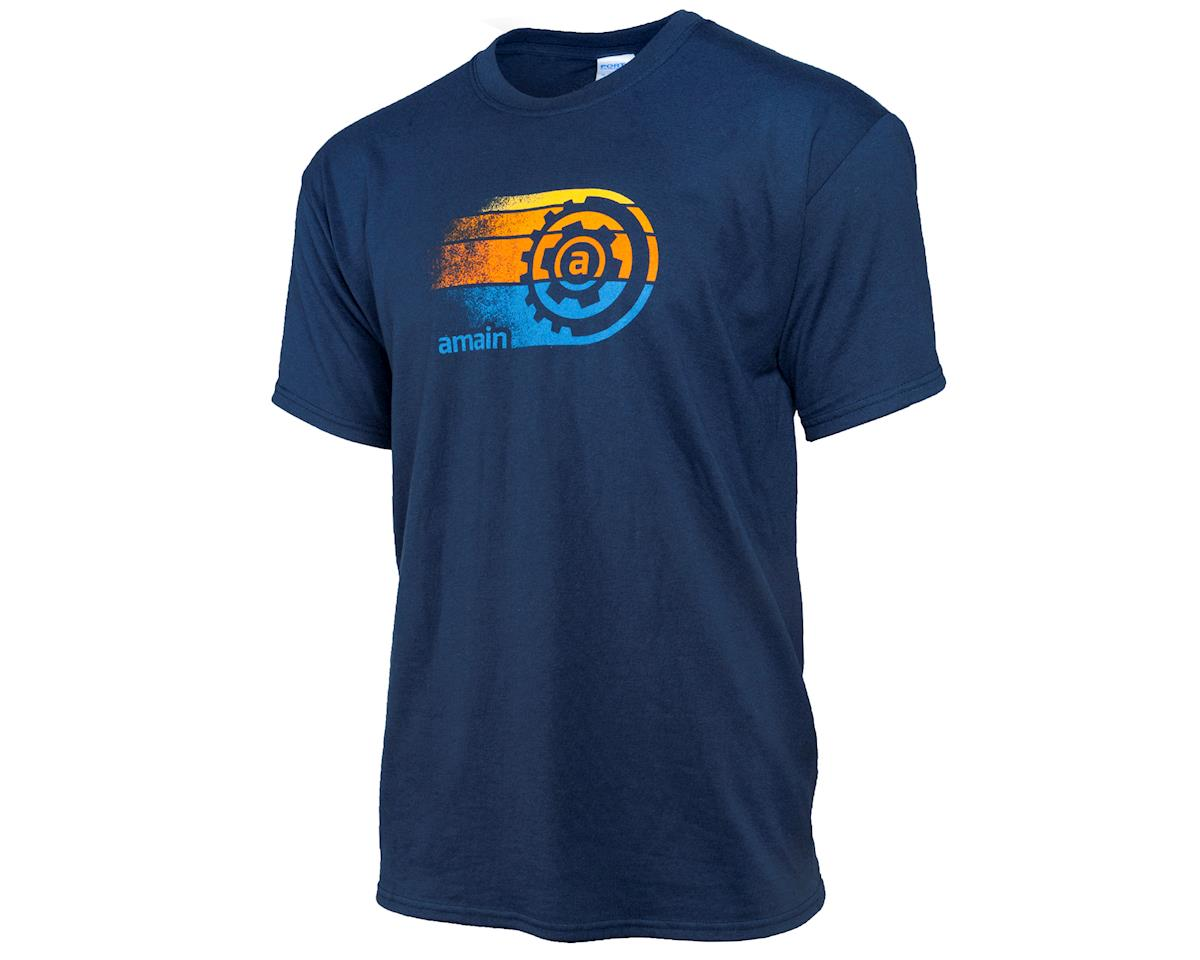 "AMain Limited Edition Short Sleeve ""Sunset"" T-Shirt (Navy) (4XL)"