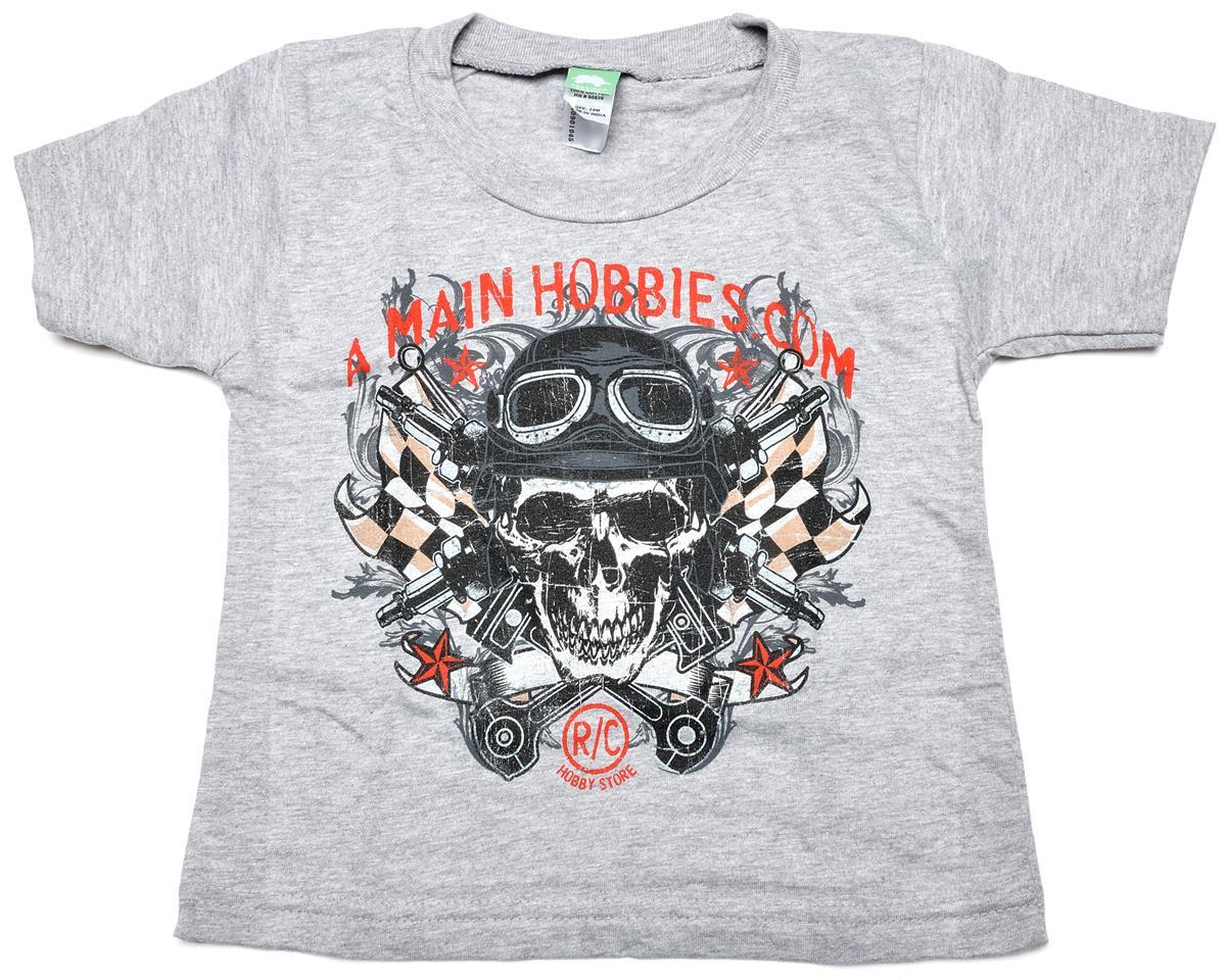 "AMain Gray ""Skull"" Toddler T-Shirt (2T)"