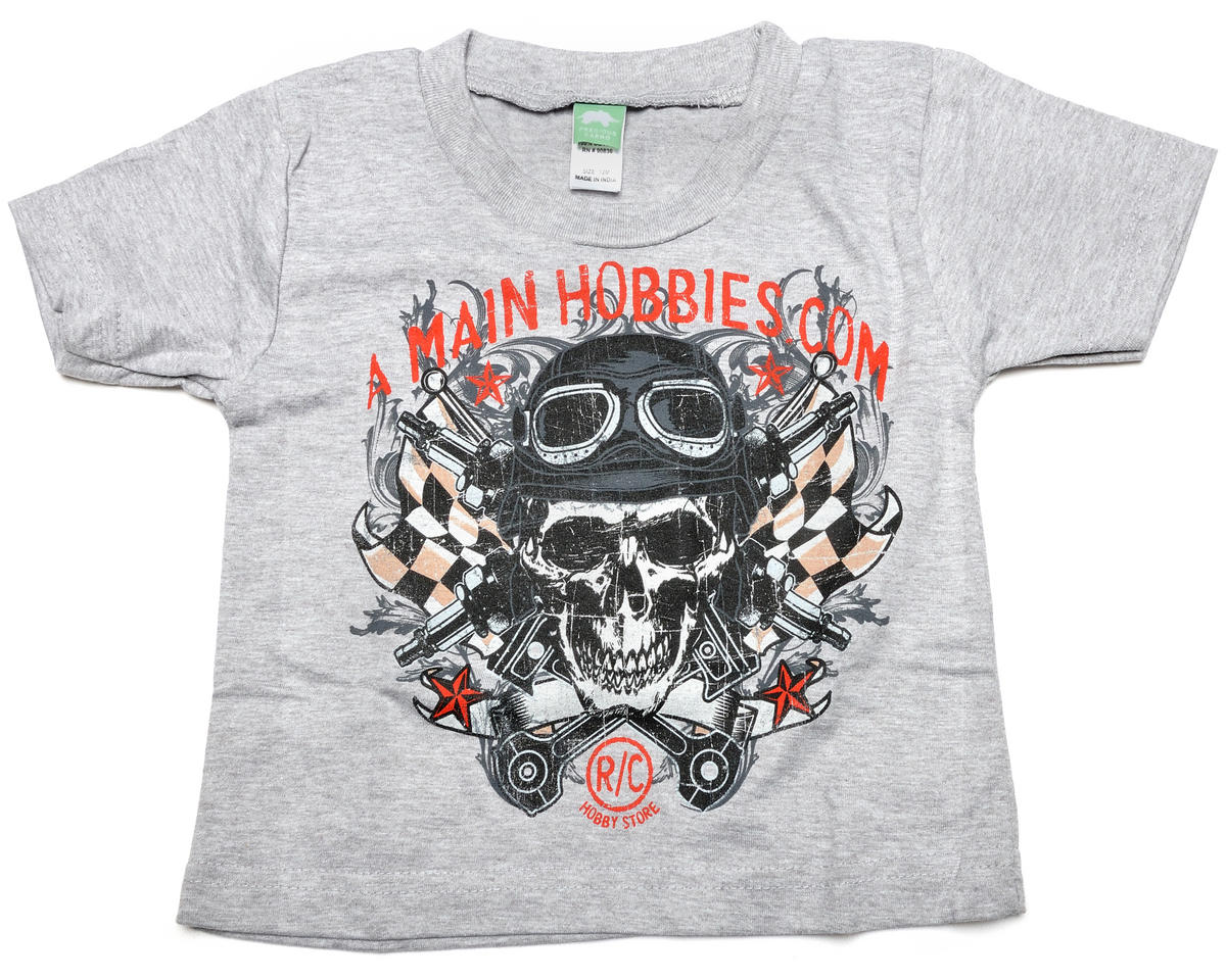 "AMain Gray ""Skull"" Infant T-Shirt (6M)"