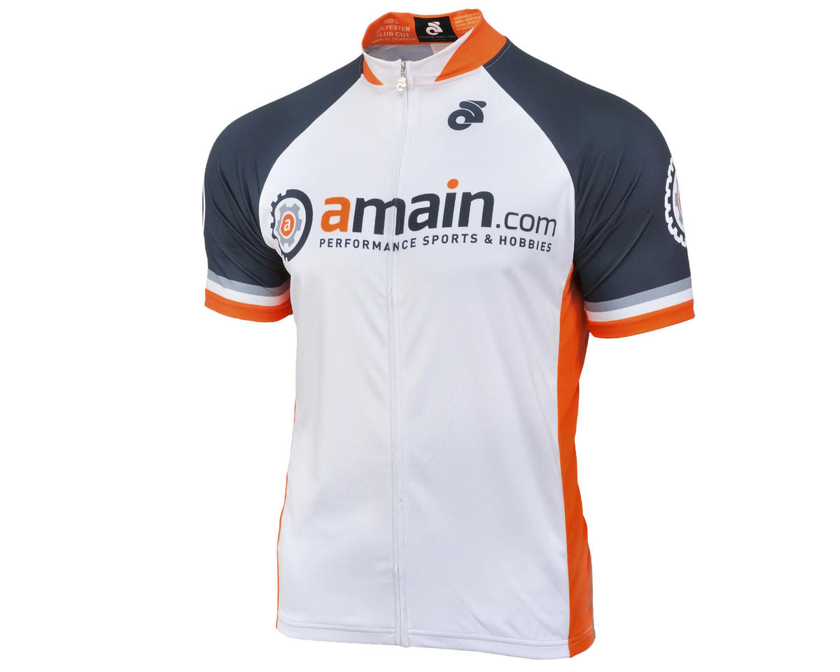 AMain Men's Tech Short Sleeve Cycling Jersey (Club Cut) (L)
