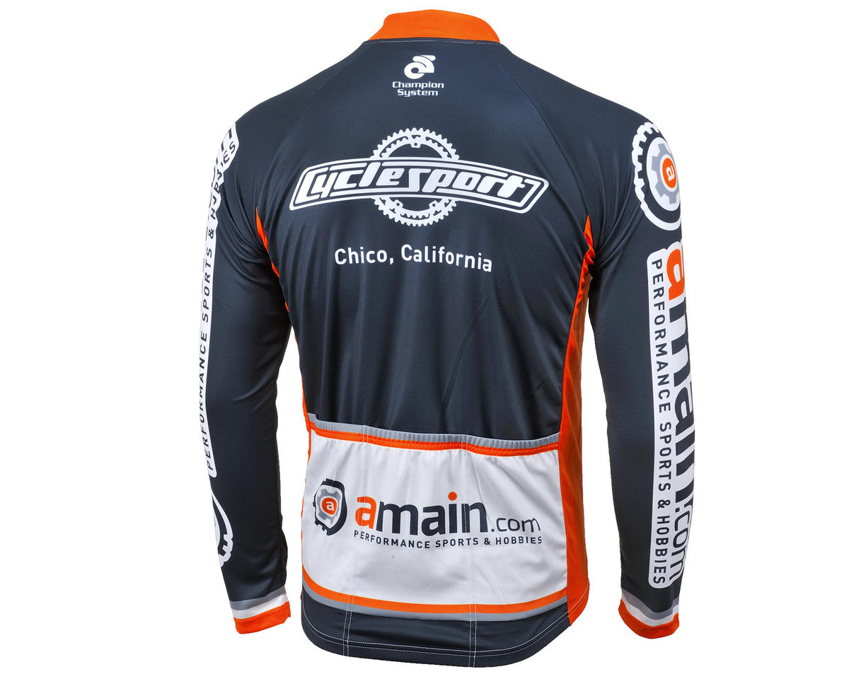 AMain Tech Men's Long Sleeve Cycling Jersey (Club Cut) (M)