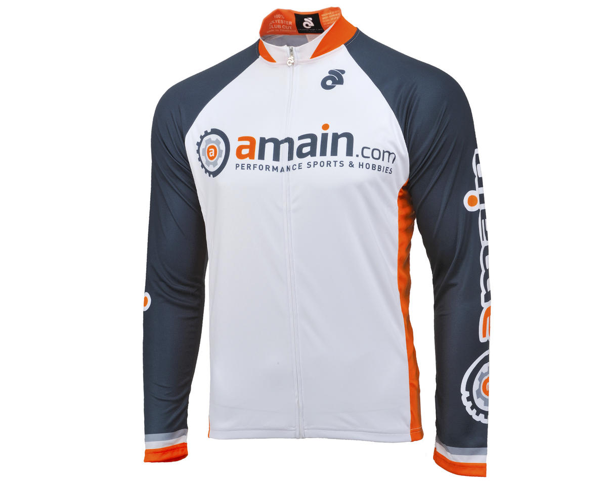 AMain Tech Men's Long Sleeve Cycling Jersey (Club Cut) (S)