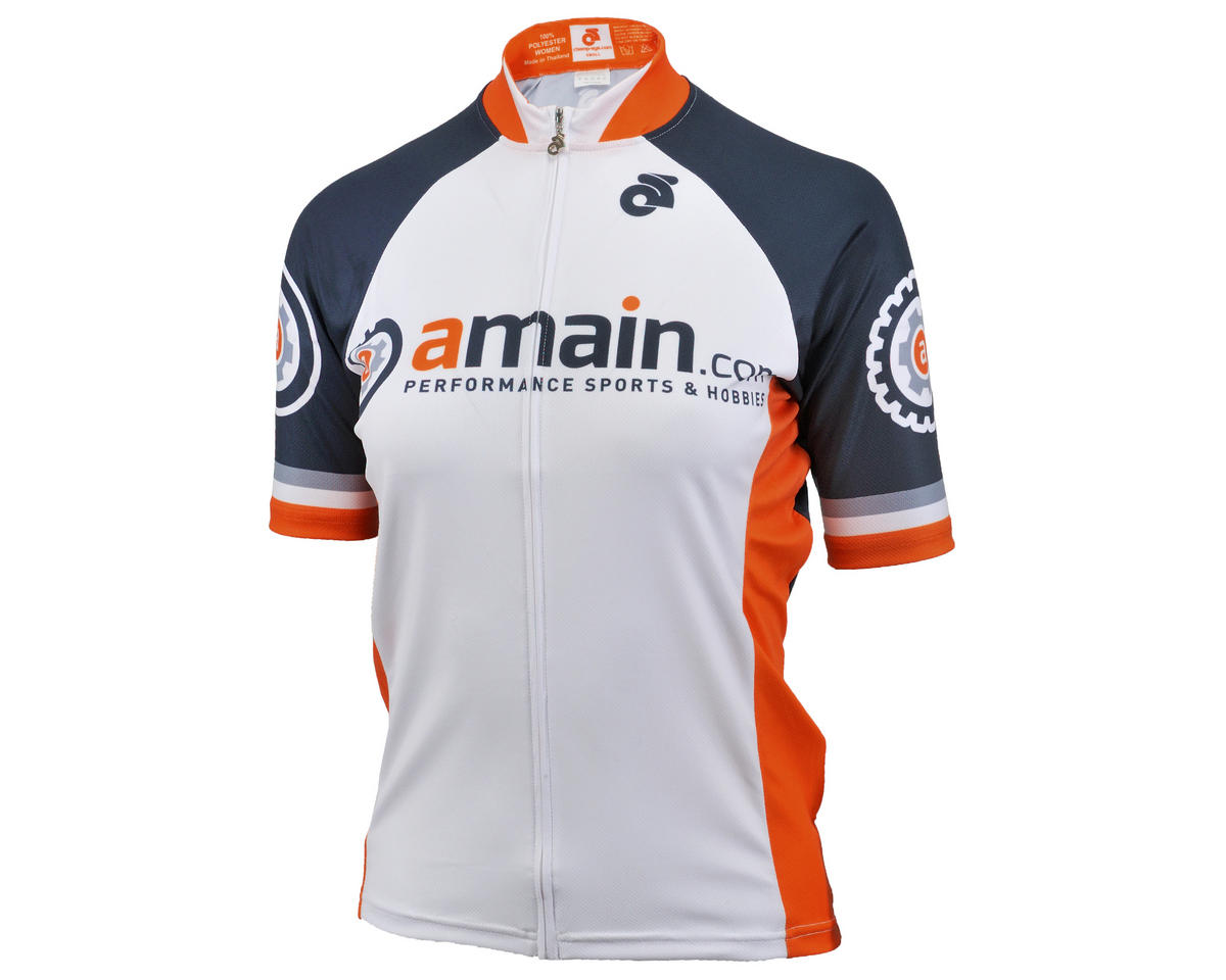 AMain Women's Tech Short Sleeve Cycling Jersey (Race Cut) (L)
