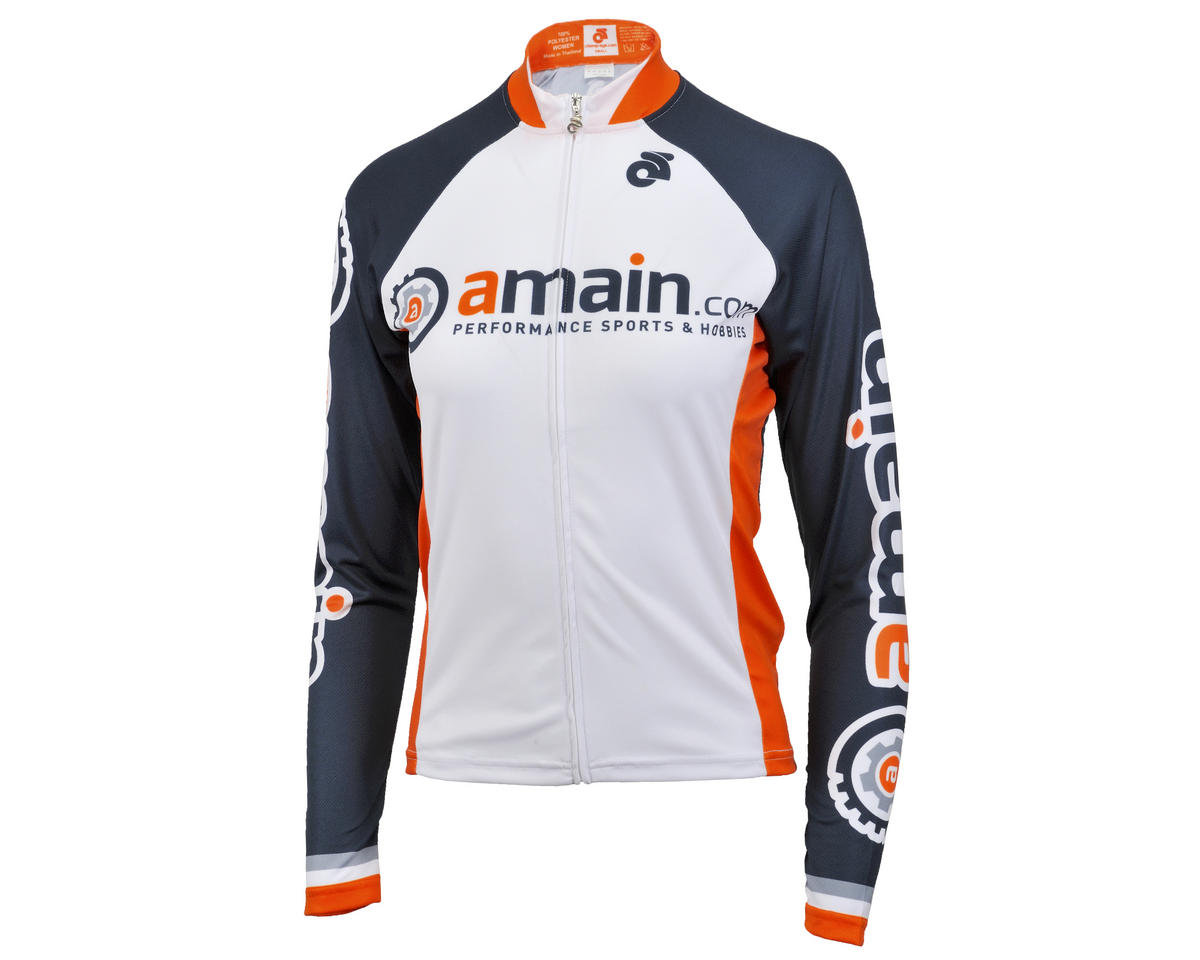 AMain Women's Tech Long Sleeve Cycling Jersey (Race Cut) (L)
