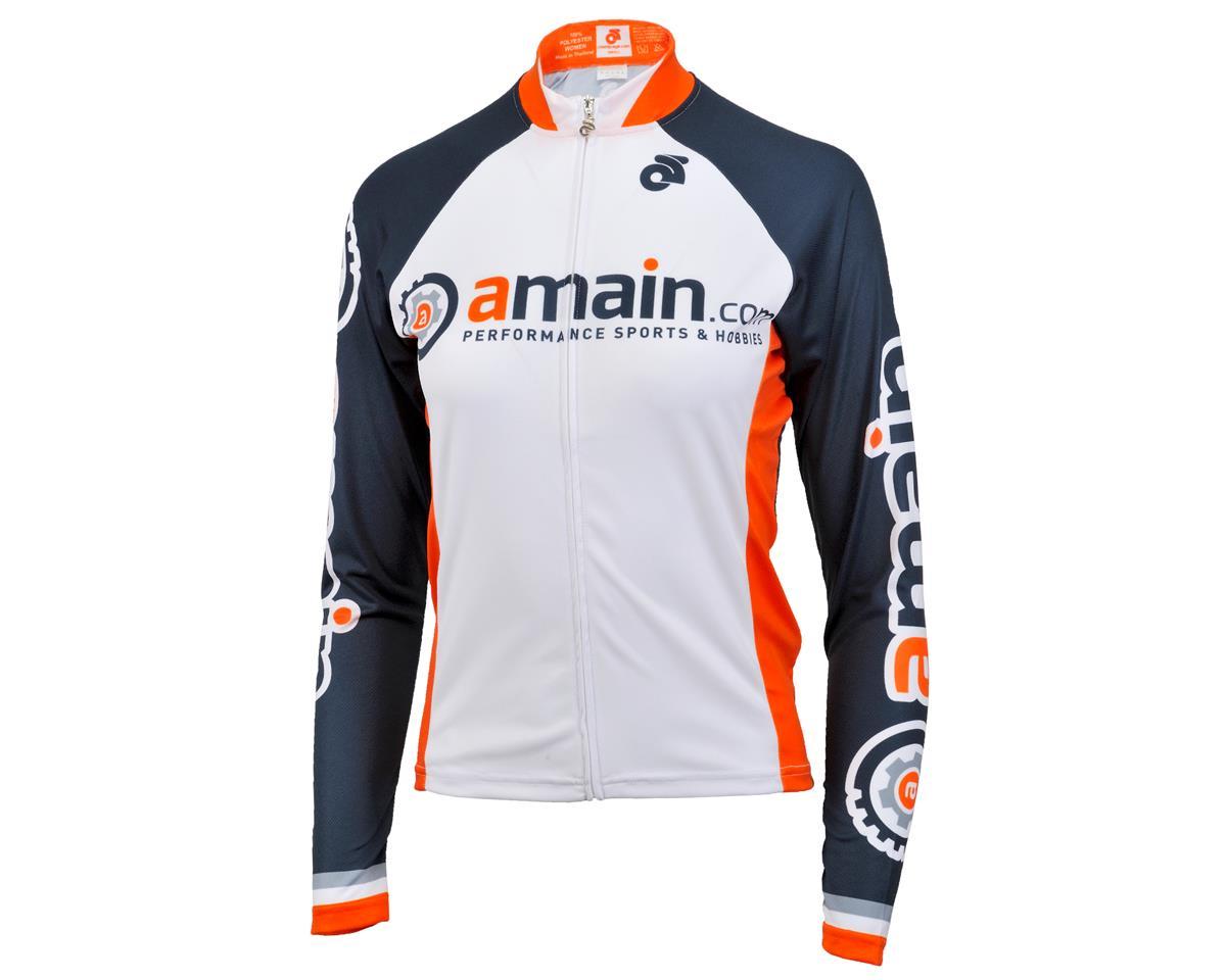 AMain Women's Tech Long Sleeve Cycling Jersey (Race Cut) (M)