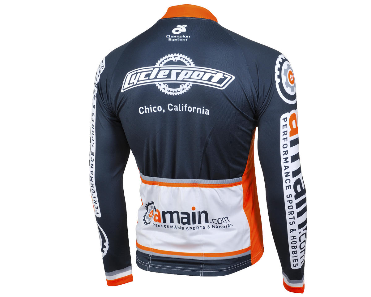 AMain Men's Tech Long Sleeve Cycling Jersey (Race Cut) (3XL)