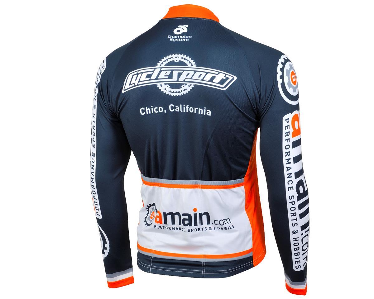 AMain Men's Tech Long Sleeve Cycling Jersey (Race Cut) (L)
