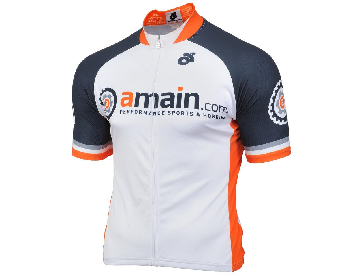 AMain Men's Tech Short Sleeve Cycling Jersey (Race Cut) (2XL)