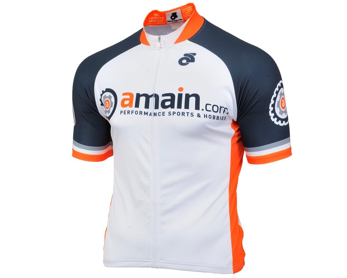 AMain Men's Tech Short Sleeve Cycling Jersey (Race Cut) (L)